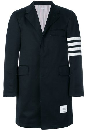 Thom Browne Homme Manteaux longs - Unconstructed 4-Bar Stripe Classic Chesterfield Overcoat