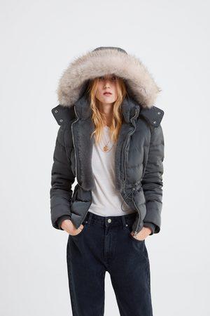 Zara Veste doudoune à capuche