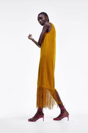 Zara Robe style brut à franges