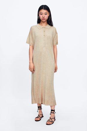 Zara Femme Robes en maille - Robe longue en maille