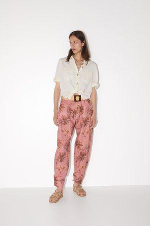 Zara Pantalon imprimé tropical