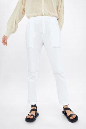 Zara Pantalon de jogging à surpiqûres