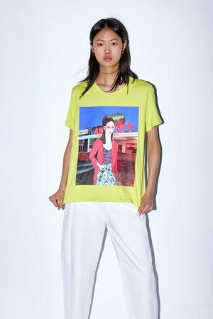 Zara T-shirt avec imprimé sur le devant