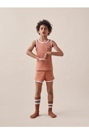 Zara Pyjama côtelé à étiquette