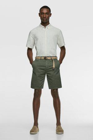 Zara Homme Bermudas - Bermuda structuré avec ceinture