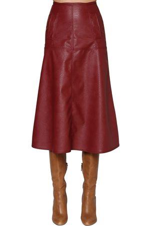 JOHANNA ORTIZ Femme Jupes en cuir - Faux Leather Midi Skirt