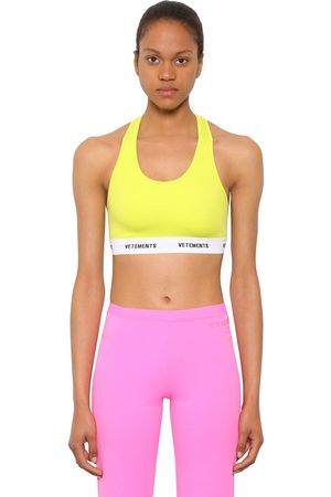 Vetements Lycra Sport Crop Top