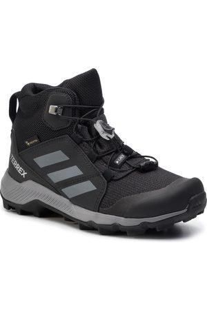 adidas Chaussures adidas - Terrex Mid Gtx K GORE-TEX EF0225 Cblack/Grethr/Cblack