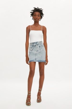 Zara Mini jupe en jean à ceinture
