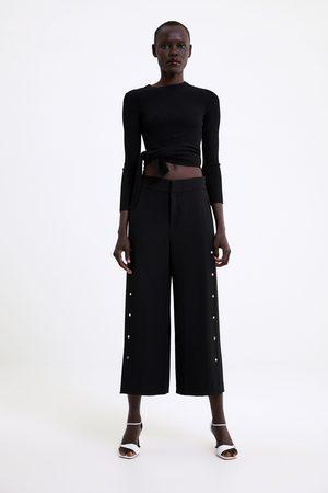 Zara Pantalon large à appliqués