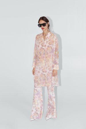 Zara Pantalon flare à imprimé floral