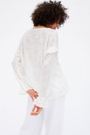 Zara Chemise rustique à volants