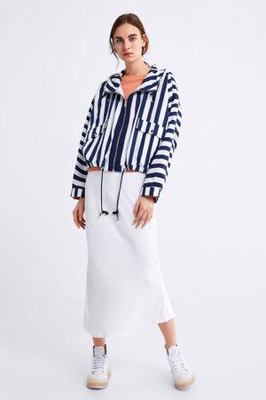 Zara Veste à rayures avec capuche