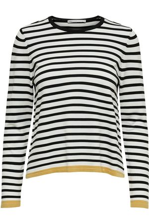 Only À Rayures Pull En Maille Women White