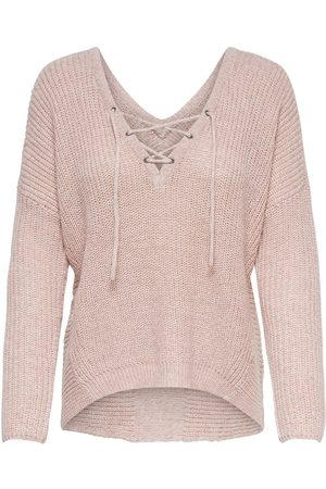 Only À Lacets Pull En Maille Women pink