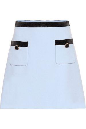 Miu Miu Femme Mini-jupes - Mini-jupe en cady à sequins