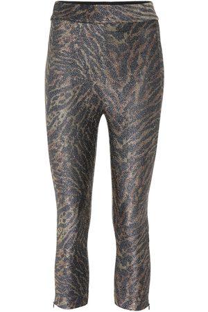 Ganni Femme Leggings & Treggings - Legging imprimé en jersey de lurex mélangé