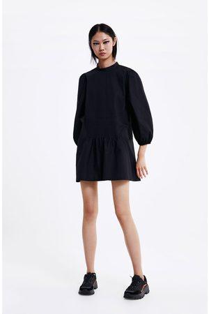 Zara Robe courte en popeline