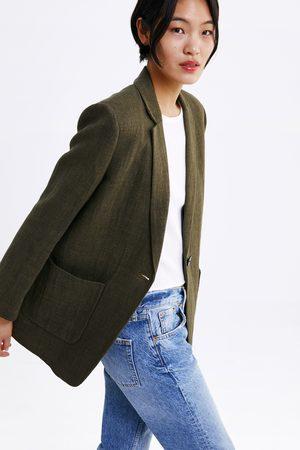 Zara Rustic blazer with pockets