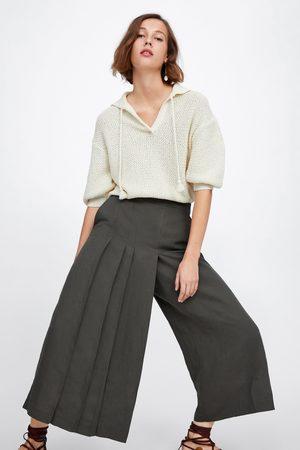 Zara Pantalon large à plis