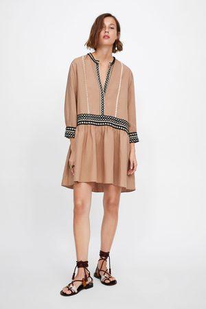 Zara Robe courte avec rubans