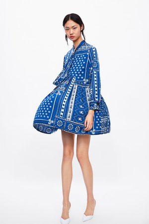 Zara Robe courte à imprimé patchwork