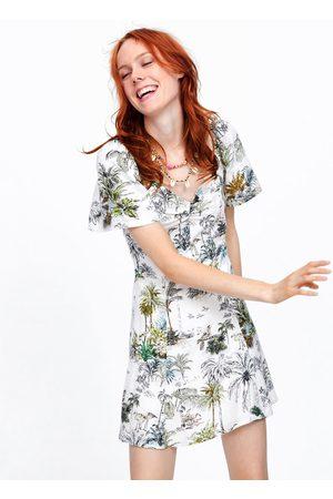 Zara Robe à imprimé tropical