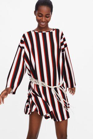 Zara Robe à rayures et ceinture