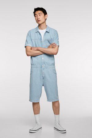 Zara Combinaison en jean courte