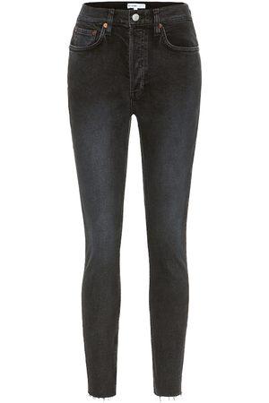 RE/DONE Femme Pantalons Slim & Skinny - Jean skinny à taille haute