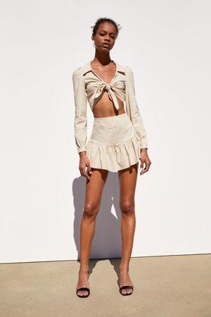 Zara Chemise courte à nœud