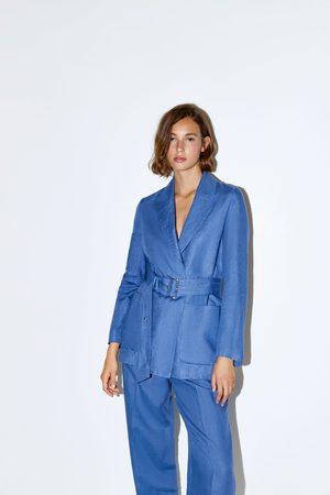 nouveau sélection trouver le prix le plus bas divers styles Veste en lin avec ceinture