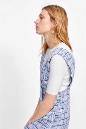 Zara Femme Robes imprimées - Robe-salopette à carreaux