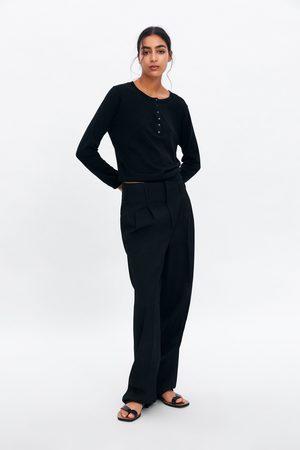 Zara Femme Pulls - Pull basique à boutons