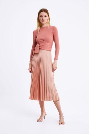Zara Pull avec nœud à la taille