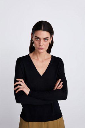 Zara Femme Pulls en maille - Pull en maille de laine mérinos