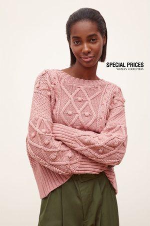 Zara Femme Pulls en maille - Pull en maille à losanges