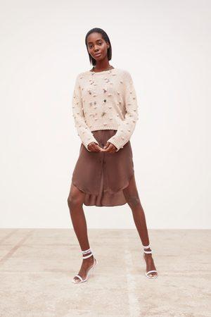 Zara Femme Pulls en maille - Pull en maille à pompons
