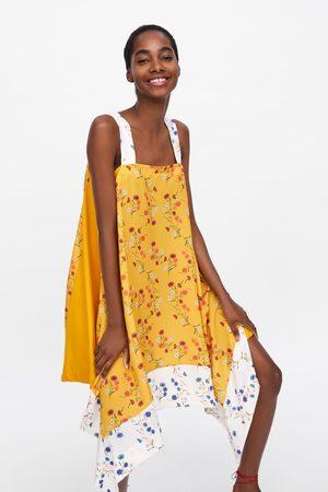 Zara Robe asymétrique à imprimé floral
