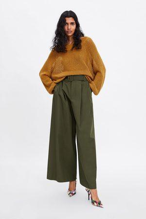 Zara Pull en coton à col ample