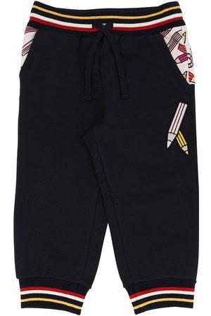 Dolce & Gabbana Fille Pantalons - Pantalon En Coton Imprimé Crayons