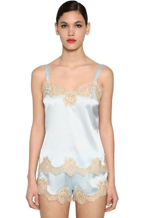 Dolce & Gabbana Femme Maillots de corps - Silk Satin & Lace Camisole Top