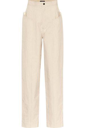 Isabel Marant Pantalon Ladjo à taille haute en coton