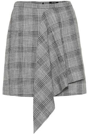 Isabel Marant Mini-jupe Doleyli en coton et laine à carreaux