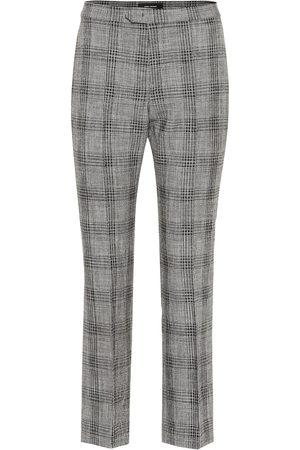 Isabel Marant Femme Pantalons classiques - Pantalon Derys en coton et laine à carreaux