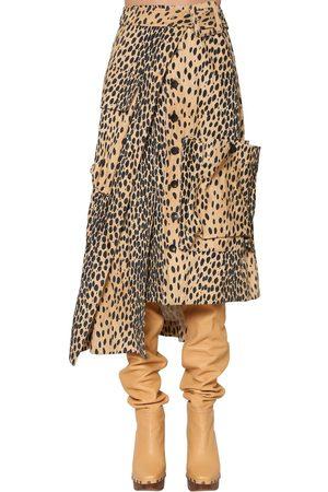 Jacquemus Asymmetric Printed Cotton Velvet Skirt