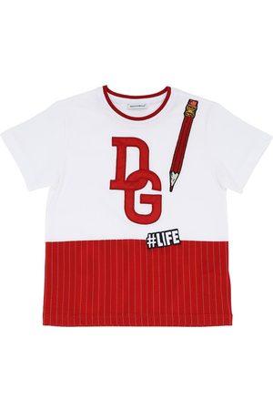 Dolce & Gabbana Garçon T-shirts - T-shirt En Jersey De Coton Avec Logo