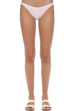 "Solid Bas De Bikini À Motif Vichy ""eloise"""