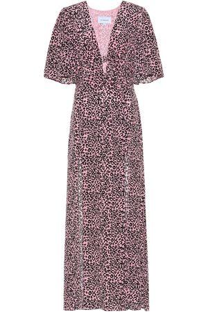 Les Rêveries Robe longue imprimée en soie
