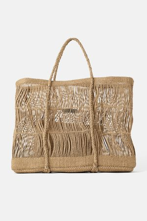 Zara Sac shopper maxi en corde